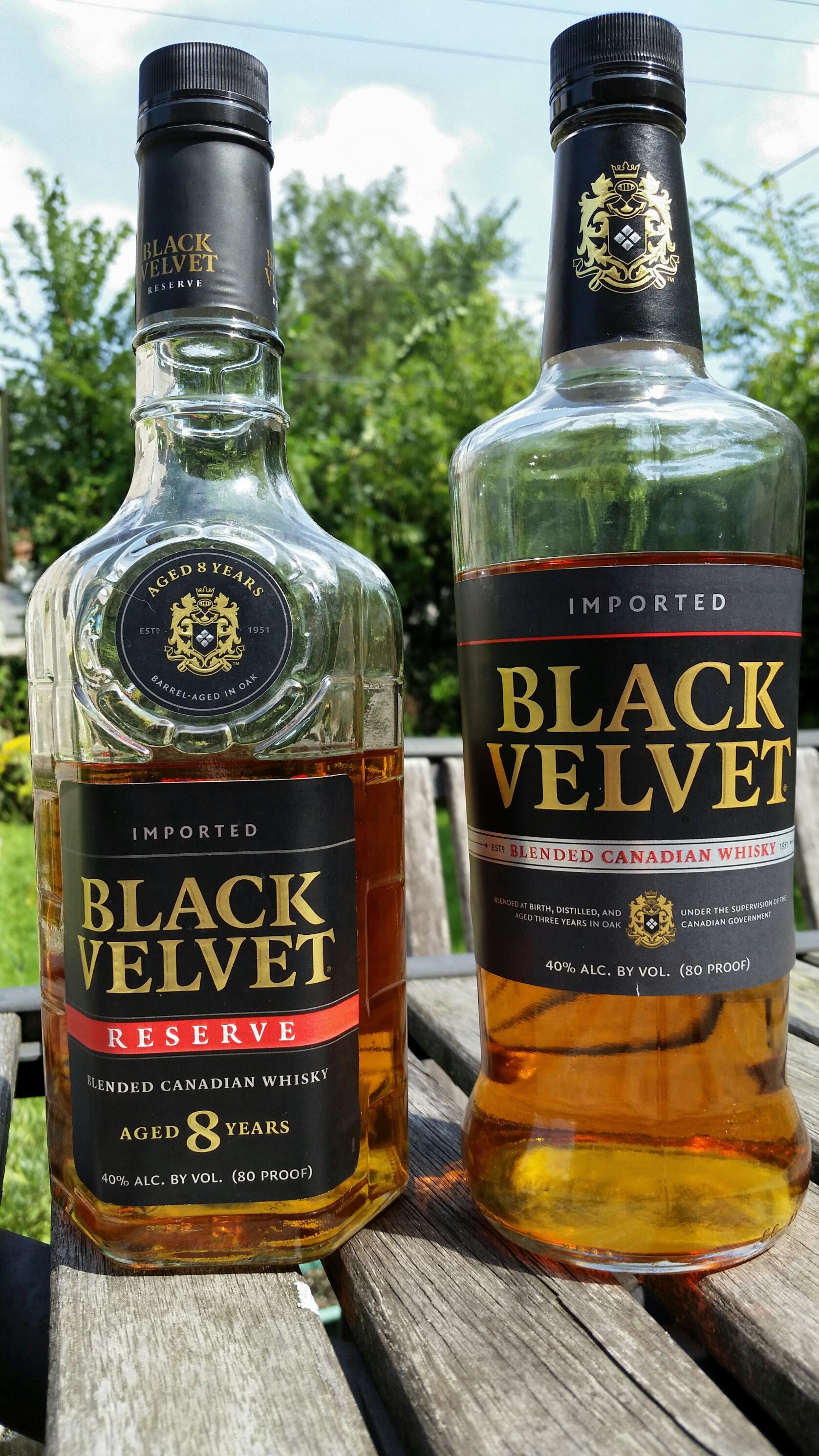 Head To Head Black Velvet Vs Black Velvet Reserve Sipology