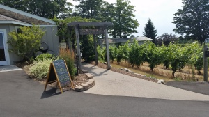 Entrance to Bower's Harbor tasting room