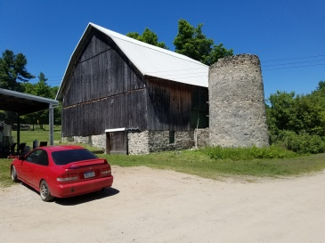 The old Raftshol barn and silo.